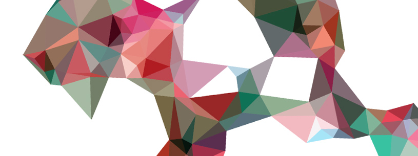 Abstract graphics made of triangles